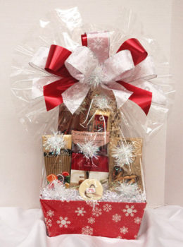 snow flurries holiday gift basket